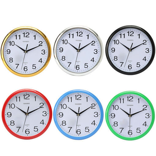 Picture of Six Colors Vintage Round Modern Home Bedroom Time Kitchen Wall Clock