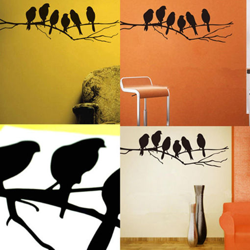 Picture of Removable Birds Branch Tree Wall Stickers Home Art Decals DIY Living Room Decor