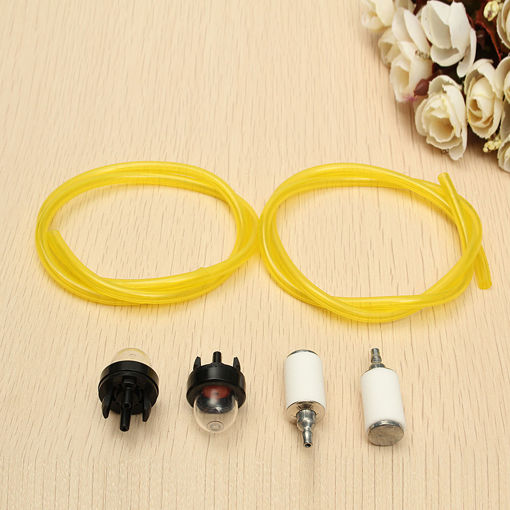 Picture of 1.8Ft Tygon Fuel Lines Filter Snap In Primer Bulb For Craftsman Poulan Chain Saw