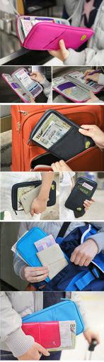 Picture of Honana HN-PB7 Portable Multifunctional Travels Card Ticket Passport Holder Wallet Purse Storage Bag