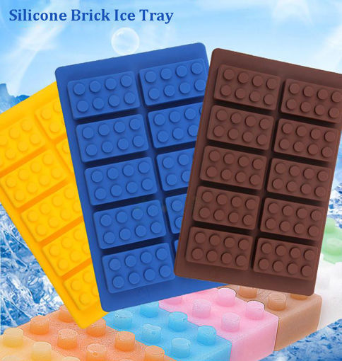 Picture of Brick Pattern Silicone Ice Cube Jelly Tray Maker Chocolate Mold