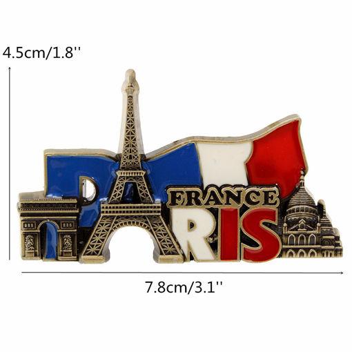 Picture of Paris France Travel Collectible Metal Stereoscopic Fridge Magnet Sticker Tourist Souvenir