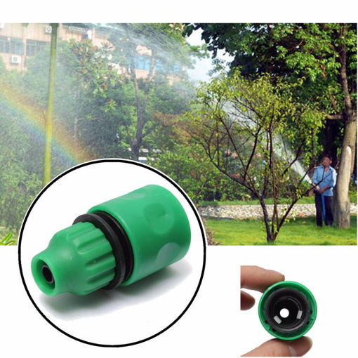 Picture of 3/8 Inch Garden Water Hose Fast Joint Plastic Spray Nozzle Connector Fitting