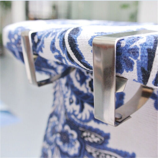 Picture of 4pcs Stainless Steel Tablecloth Clip Table Cover Cloth Loaded Clamp Holder