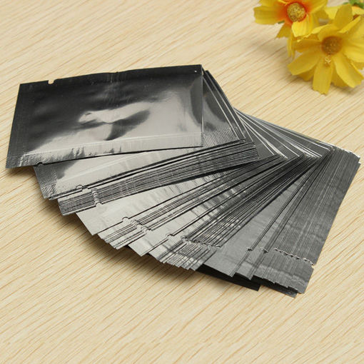 Picture of 100pcs Silver Aluminum Foil Vacuum Bags Package Food Vacuum Sealed Bag