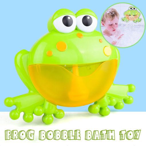 Picture of Big Frog Automatic Bubble Blower Music Bubble Maker Baby Bath Toy Bathtub Soap Bubble Machine