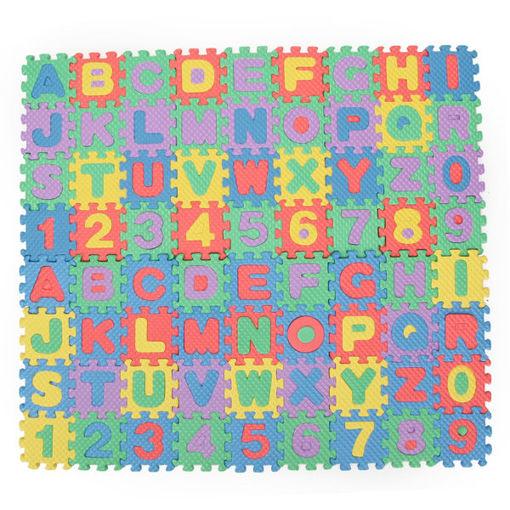 Picture of 72pcs Baby Kids Mini EVA Foam Alphabet Letters Number Mat 3D Puzzles Educational Toys