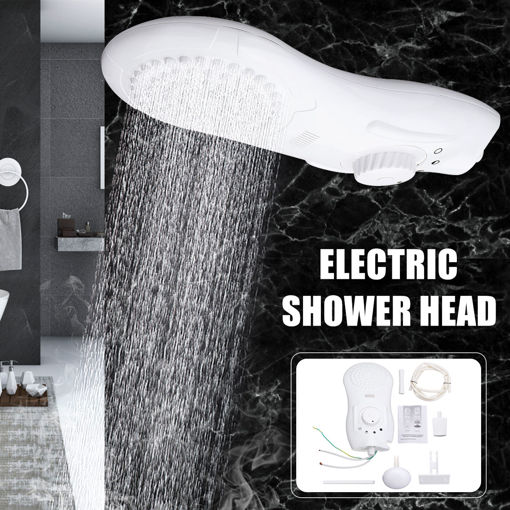Picture of 6500W 110V/220V Electric Shower Head Bathroom 0.5s Instant Hot Water Heater Movable Spray Tap