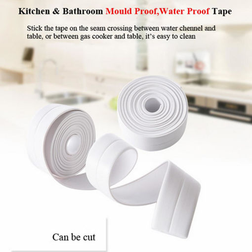 Picture of Honana Kitchen Bathroom Wall Seal Ring Tape Waterproof Tape Mold Proof Adhesive Tape