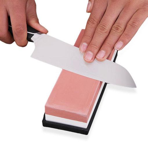 Picture of Honana HN-SP3000 3000/8000 Double Side Sharpening Fine Whetstone Knife Sharpener