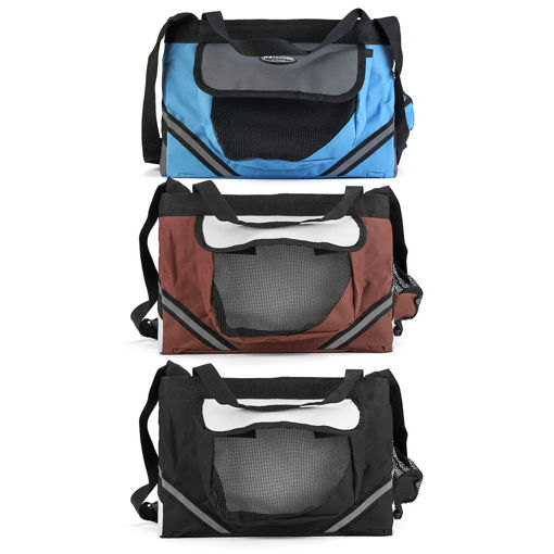 Picture of Pet Puppy Bicycle Basket Storage Puppy Ride Bike Canopy Dog Cat Carrier Safety Bike Basket