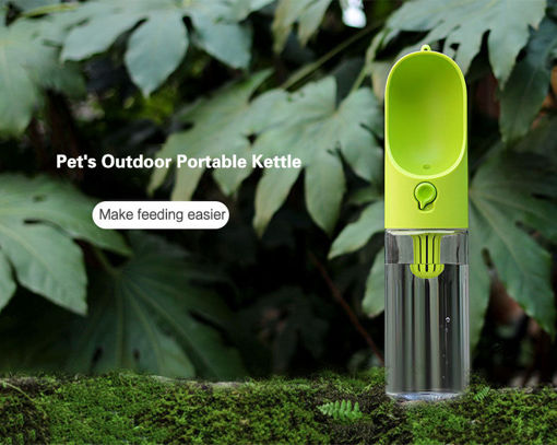 Picture of Pet Travel Portable Water Dispenser Bottles Travel Feeding Bowl Outdoor Pet Dog Filtrate Kettle