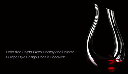 Picture of 1200ml Luxurious Crystal Glass U-shaped Horn Wine Decanter Wine Pourer Red Wine Carafe Aerator