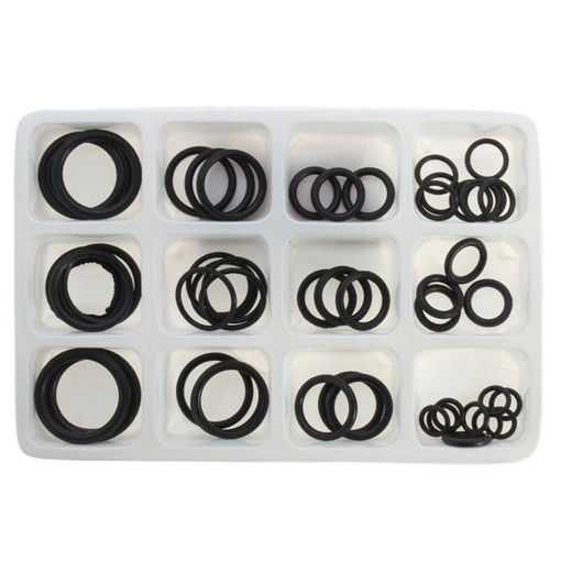 Picture of 50pcs Rubber O Ring Seal Plumbing Garage Assorted Set Hydraulic Plumbing Gasket Seals