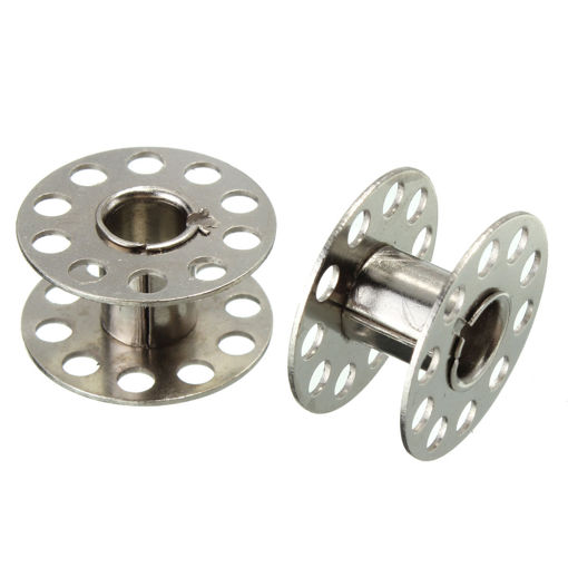 Picture of 25Pcs Standard Sewing Machine Bobbins Rotary Spools Reels Part Home Accessories