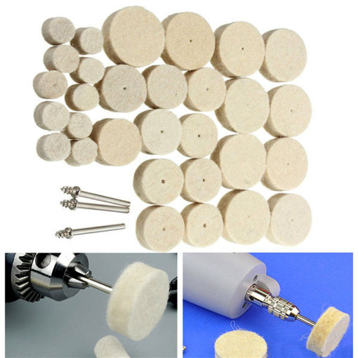 Picture of 33pcs Wool Polishing Wheel Grinder Accessories for Rotary Tool