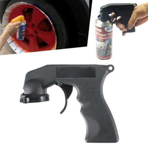 Picture of Spray Adaptor Aerosol Spray Gun Handle with Full Grip Trigger Locking Collar