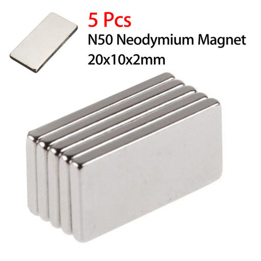 Picture of 5pcs N50 20x10x2mm Neodymium Block Magnet Oblong Super Strong Rare Earth Magnets
