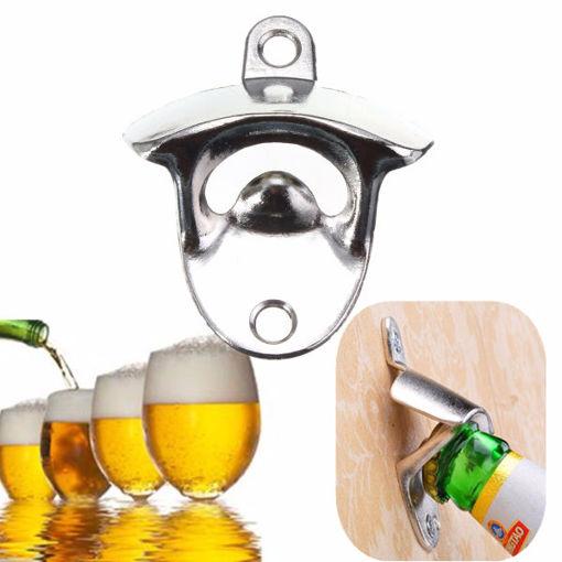 Picture of Nickel Bottle Opener Wall Mount Bar Wine Beer Soda Glass Cap Remover Opener Tool