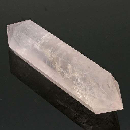 Picture of 100% Natural Pink Rose Crystal Quartz Stone Point Double Terminated Wand Healing Desktop Decorations