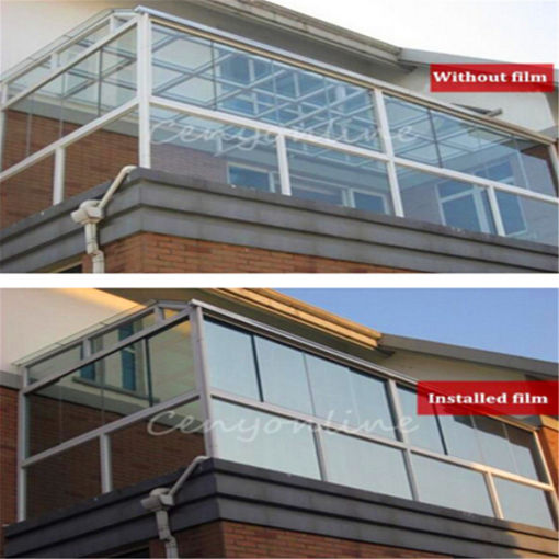 Picture of 2M 20% Solar Reflective Window Film Paper One Way Mirror Silver Stickers