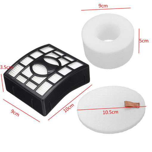 Picture of 3pcs Vacuum Cleaner Accessories Sponge Filter Set For Shark NV680