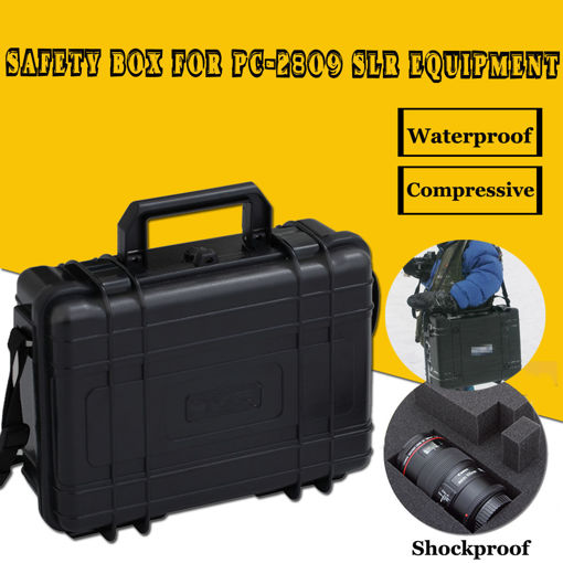 Picture of 274*218*93mm Waterproof Equipment SLR Compression Moistureproof ABS Safe Box