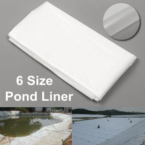 Picture of 2m2/3/4/5/6/7m White Fish Pond Liner Fishing Tool Garden Pool HDPE Membrane Reinforced Landscaping