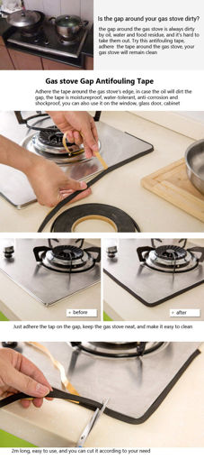 Picture of Honana Gas Stove Cooker Slit Antifouling Strip Seal Ring Tape Seal Ring Strip Kitchen Tool