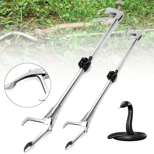 Picture of 100cm/75cm Snake Tongs Heavy Duty Reptile Grabber Catcher Pick-up Handing Tool Snake Catcher