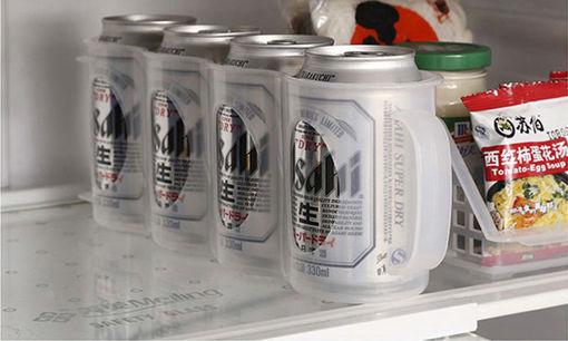 Picture of Honana CF-KT04 Cans Storage Box Refrigerator Fridge Organizer Four Case Sauce Bottle Container