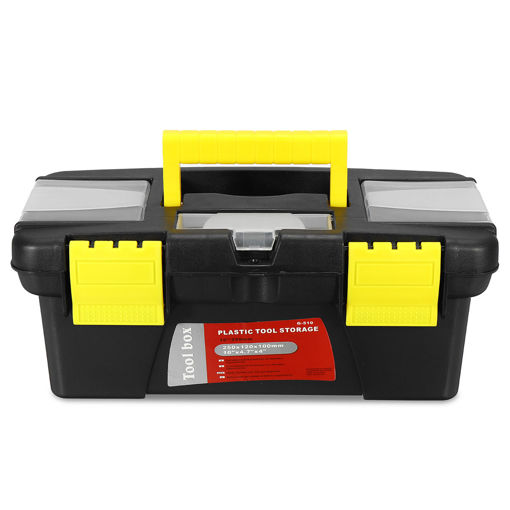 Picture of 10 Inch Multifunctional Tool Box Portable Plastic Storage Toolbox